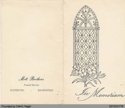 Funeral Card of Charles Dufferin Nelles
