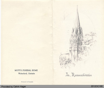 Funeral Card of Ida Idell Slaght
