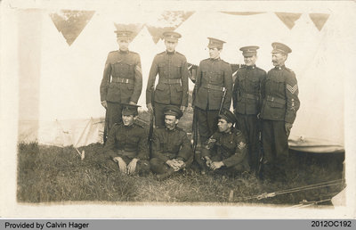 Photographic Postcard of Military Personnel
