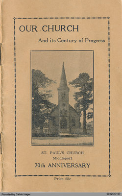 Programme of the 75th Anniversary of the St. Paul's Church in Middleport