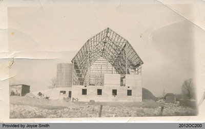 Barn Being Raised at Farm of Abram VanSickle