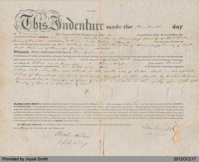 Deed from John Merral to John Whiting Junior