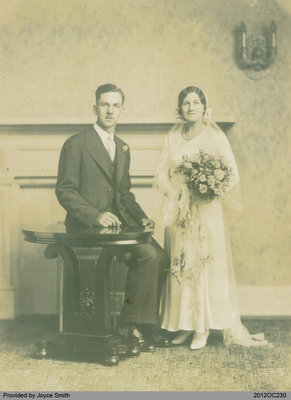 Wedding Photograph of Bruce and Dorothy (Black) Campbell