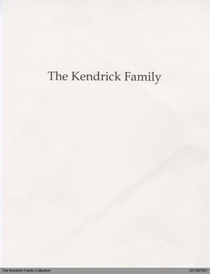 Kendrick Family History