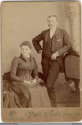 Photograph of Charles and Emma Edwards