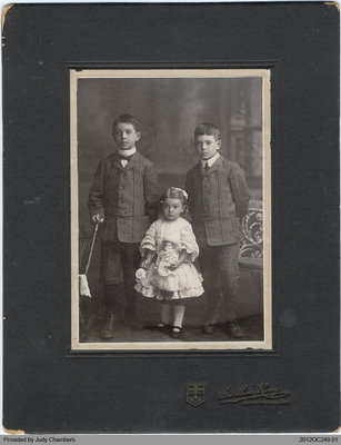 Photograph of George, Howard and Marion Edwards