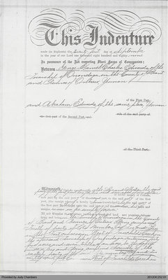 Deed of Land of George Edwards to Abraham Edwards