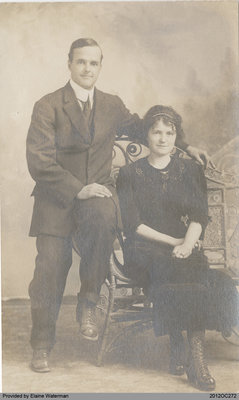 Photographic Postcard of Evan and Edna Waterman