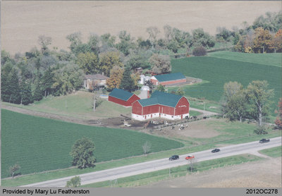 Aerial Photograph of Featherston Farm