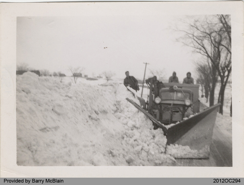 Plowing Snow in Middleport