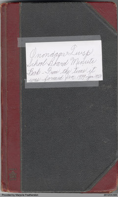 Onondaga Township School Board Minute Book