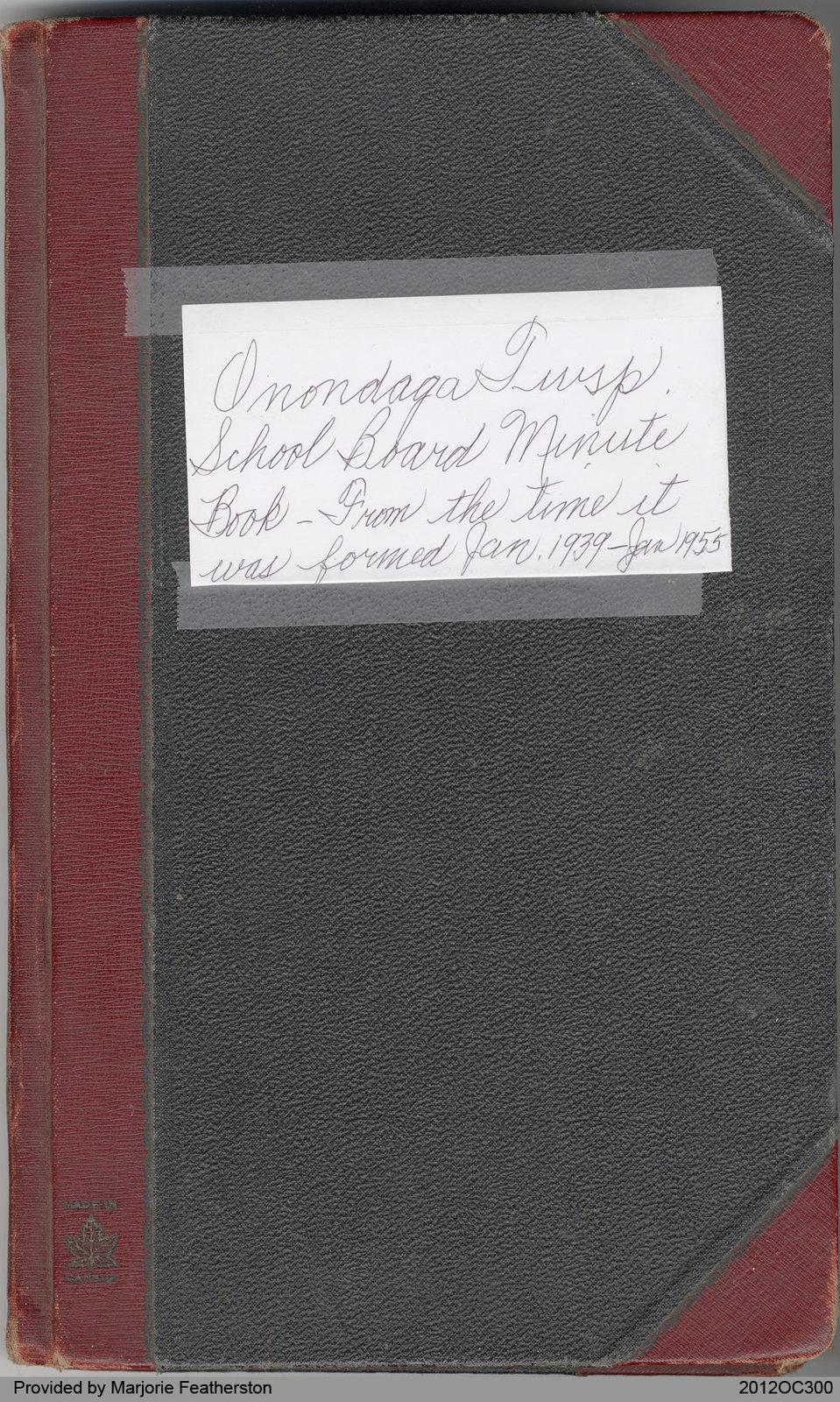 Onondaga Township School Board Minute Book