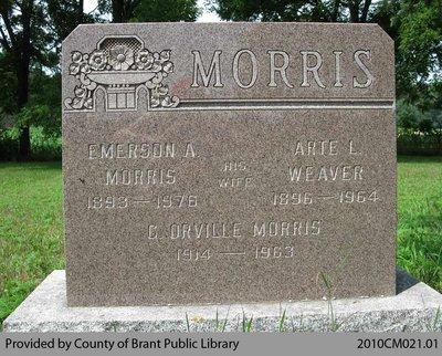 Morris Family Headstone (Range 3-1)