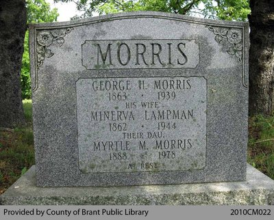 Morris Family Headstone (Range 3-2)