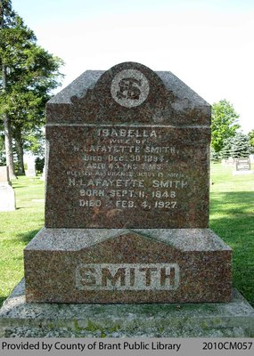 Smith Family Headstone (Range 2-8)