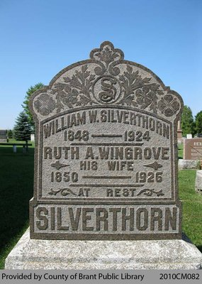 Silverthorn Family Headstone