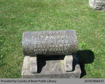 Wingrove Family Headstone (Range 4-9)