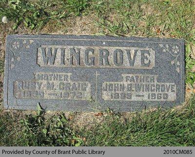 Wingrove Family Headstone (Range 4-10)
