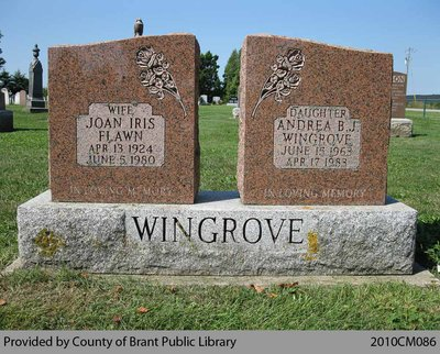 Wingrove Family Headstone (Range 4-11)