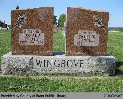 Wingrove Family Headstone (Range 4-12)