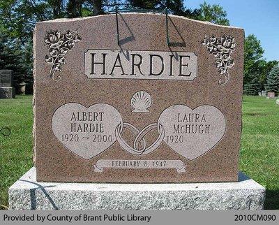 Hardie Family Headstone (Range 5-3)