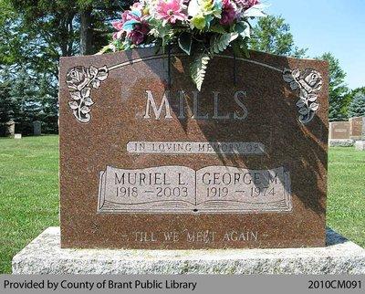 Mills Family Headstone