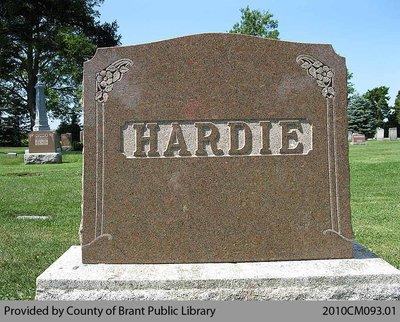 Hardie Family Headstone (Range 5-6)