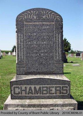 Chambers Family Headstone (Range 5-9)