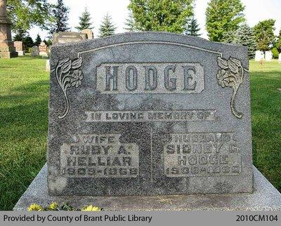 Hodge Family Headstone