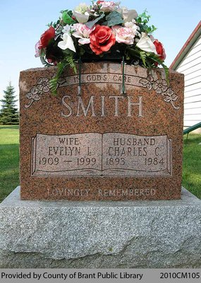 Smith Family Headstone (Range 6-9)