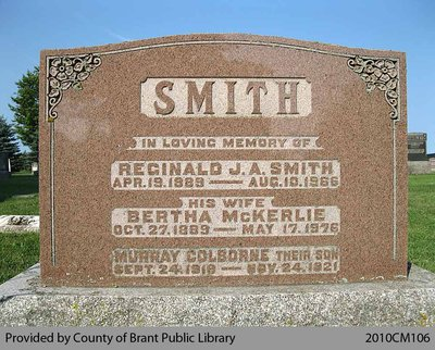 Smith Family Headstone (Range 6-10)
