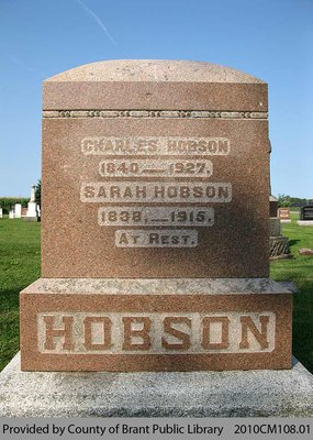 Hobson Family Headstone (Range 6-12)