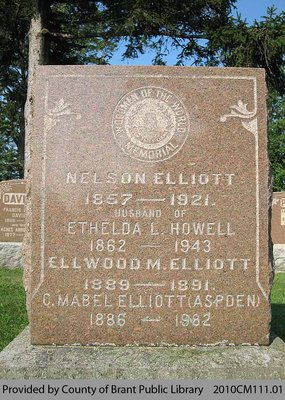 Elliott Family Headstone (Range 7-2)