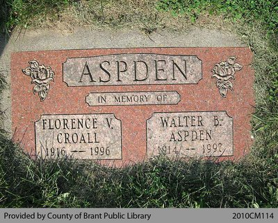 Aspden Family Headstone