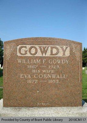 Gowdy Family Headstone (Range 7-8)
