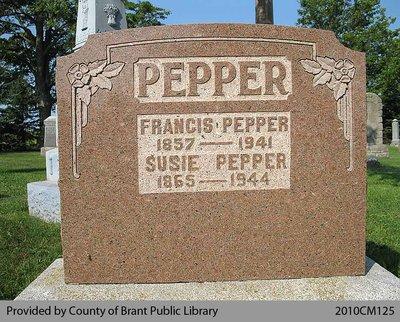 Pepper Family Headstone (Range 8-4)