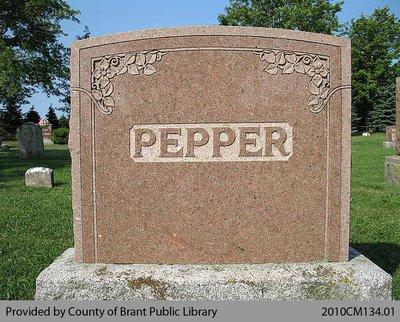 Pepper Family Headstone (Range 9-3)