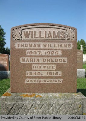 Williams Family Headstone (Range 9-4)