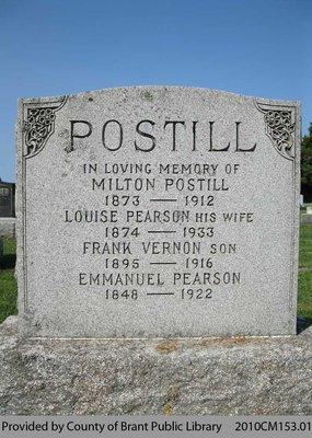 Postill Family Headstone