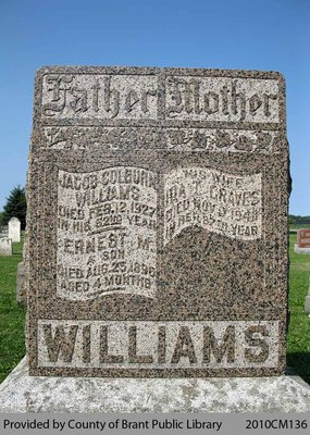 Williams Family Headstone (Range 9-6)