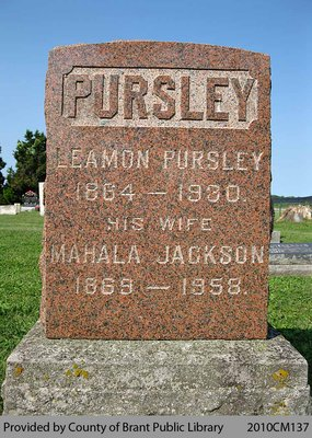 Pursley Family Headstone