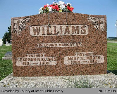 Williams Family Headstone (Range 9-8)
