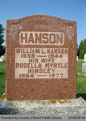 Hanson Family Headstone