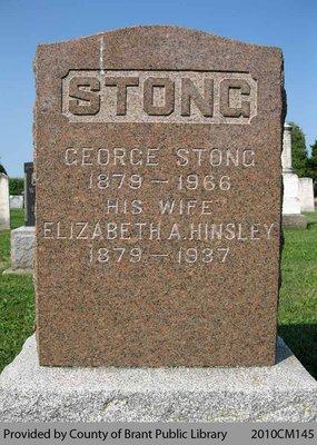 Stong Family Headstone