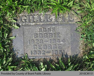 Gillette Family Headstone (Range 10-13)