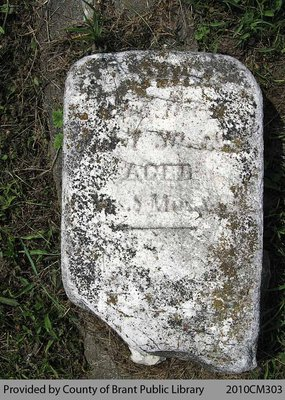 White Cemetery Headstone 1-33