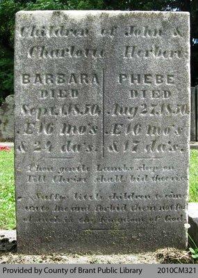 Herbert Family Headstone