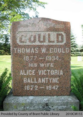 Gould Family Headstone