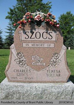 Szocs Family Headstone