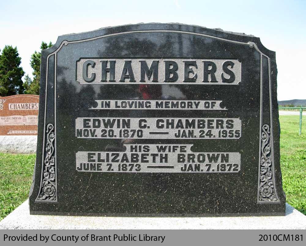 Chambers Family Headstone (Range 12-15)